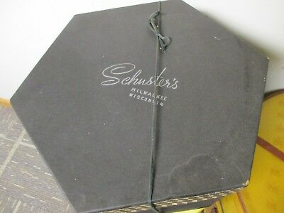 Vintage  6 sided SCHUSTERS Hat Box