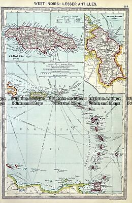 Antique map - West Indies:  Lesser Antilles  by Helmsford  c.1905  Ref# 232-713