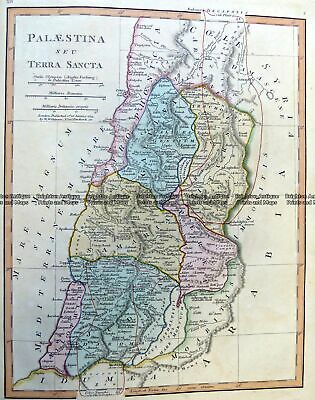 Antique Map 5-267 Palestine in Ancient Times by Wilkinson c.1830