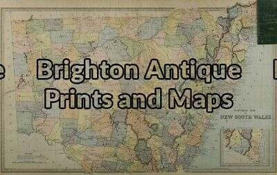 Antique Map 9-070 - New South Wales Picturesque Atlas - circa 1886 Chromolith...
