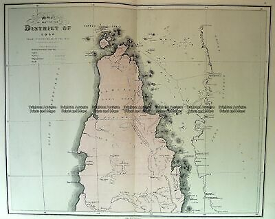 Antique Map 3-953  Queensland - northern Cape York  c.1886 Queensland