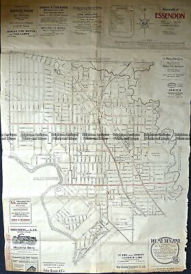 Antique Map 9-157  Melbourne Street Map - Essendon  c.1920 City Street Maps