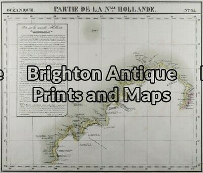 Antique Map 11-085 - Northern Territory Vandermaelen - circa 1827 Steel engra...
