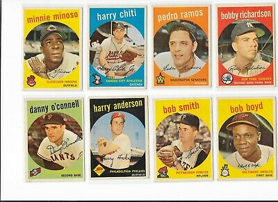 1959 Topps Baseball Pick Your Card Front and Back Scans  EX-NRMT 51-100  MA