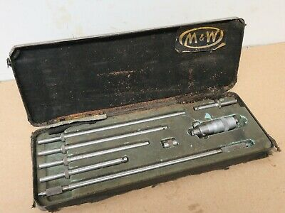 "Moore & Wright 2"" - 8"" Internal Inside Micrometer In Box ME1969"