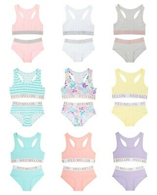 9d8436833be6a Older Girls Crop Top And Bikini Short Brief Sets Sporty Pink OR Grey Set