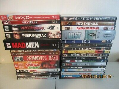 Lot of 30 DVD Movies and TV Series - 76 Discs Total