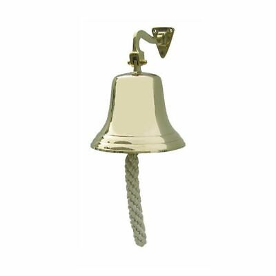 G4440: Ship's Bell with Wall Holder and Lanyard, Wall Bell, Brass Ø 15 Cm