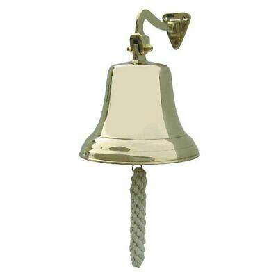 G4441: Ship's Bell with Wall Holder and Lanyard, Wall Bell, Brass Ø 17,50 Cm