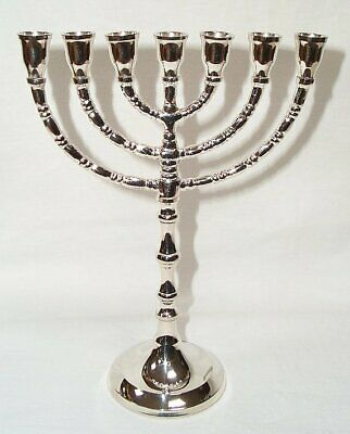 G132: Menora,David Chandelier,Candlesticks Silver Plated,for 0 19/32in Ø Candles