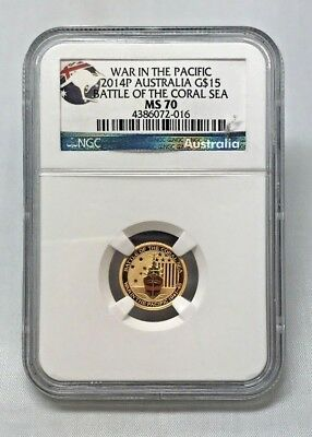 Australia - War in the Pacific - Battle Of The Coral Sea - Gold $15 - MS70 NGC