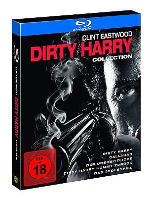 Dirty Harry Part 1 2 3 4 5 Complete Clint Eastwood Uncut Blu-Ray Collection New