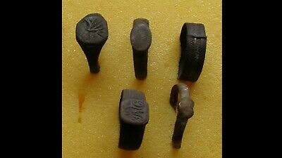 Lot Of 5 Genuine Ancient Bronze Rings