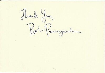 1924-2007 BOBBY ROSENGARDEN (US Jazz drummer), card, ORIGINALLY SIGNED!
