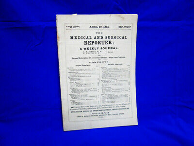 1861 Civil War Medical ; 1St Message To Usa Med Dept Staff + Confederate Ill