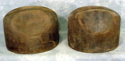 Lot Of 2--Antique Vintage Wooden Millinery Hat Molds