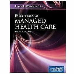 Essentials of Managed Health Care by Peter R. Kongstvedt (2012, Eb00k/PDF Only)