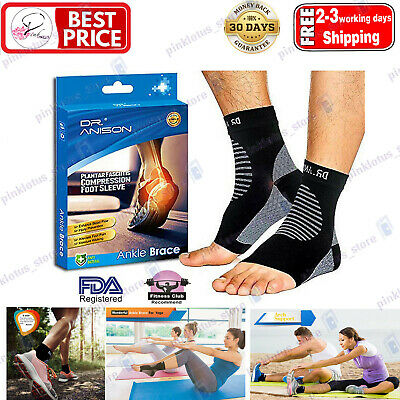 DR.ANISON Foot Doc Plantar Fasciitis Arch Support Compression Ankle Brace Sock