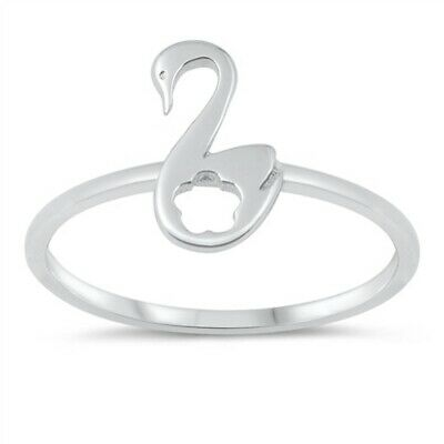 Plain Swan .925 Sterling Silver Ring Sizes 4-10