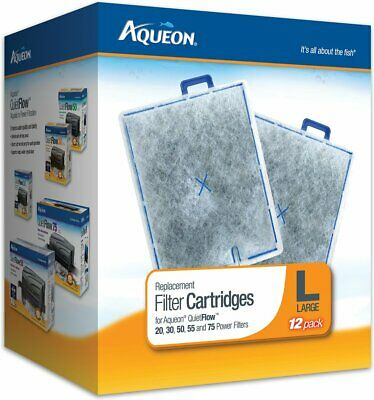 Aqueon QuietFlow Replacement Filter Cartridge Large 12 Count Free- Shipping