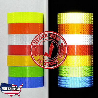 "Reflective Conspicuity Tape 2""x150' Safety Warning Sign Car Truck RV Boat"