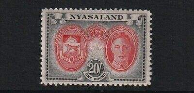 GEOVI NYASALAND 45 20/- fresh lmm cat £29