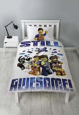 LEGO Movie 2 Single Duvet Cover Still Awesome Action Reversible Design