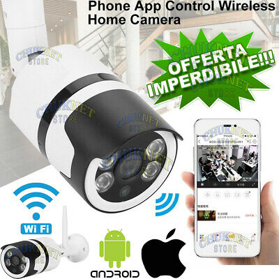 Ip Camera Telecamera Smart Ip Cam Esterno P2P Hd Wifi Wireless 2Mpx Lan Ir Sd Ap