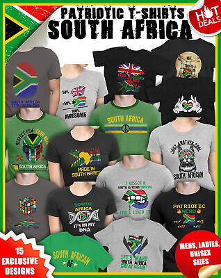 e026d42575d SOUTH AFRICA 2019 Cricket World Cup T-Shirts Mens Ladies Football Rugby Top  Tee