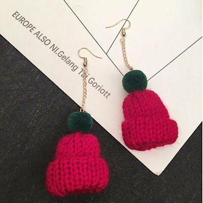 Fashion Lovely Christmas Hat Drop Dangle Earrings Jewelry Lady Xmas Party Gift