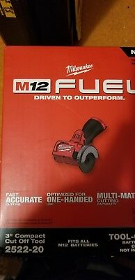 """NEW Milwaukee Electric Tool 2522-20 M12 Fuel 3"""" Compact Cut Off Tool - Bare"""