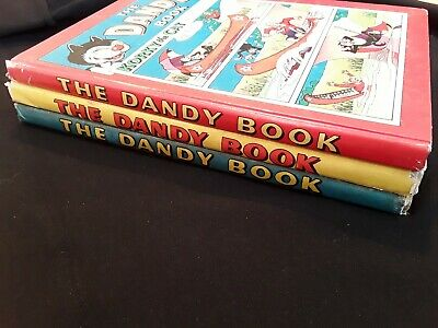 1958, 1959, 1960 Dandy Book. Job lot