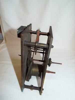 Antique brass plate verge clock movement for restoration.