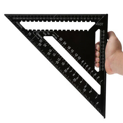 "Heavy Duty Aluminum Alloy Ruler Carpenter Speed Square 7"" Measuring Layout Tool"