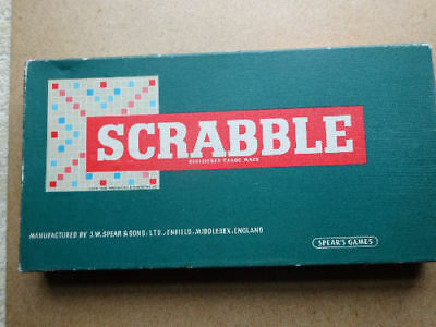 VINTAGE 'SCRABBLE'  BY SPEARS GAMES (1950s), COMPLETE AND IN PERFECT CONDITION.
