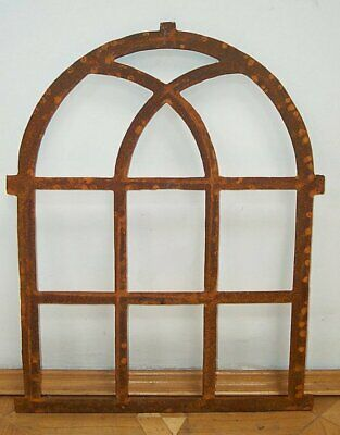 G128: Large Cast Iron Window, Barn Window, Barn Window, Iron Window