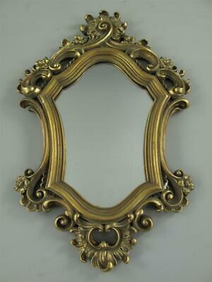 Mirror, Wall Mirror in Baroque Style with Rocaillien, Golden Antique