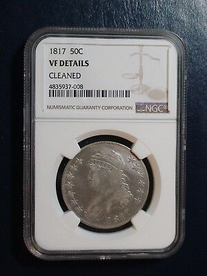 1817 CAPPED BUST HALF NGC VERY FINE SILVER 50C Coin PRICED TO SELL QUICKLY!