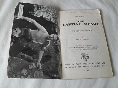 THE CAPTIVE HEART - Book of the Film MICHAEL REDGRAVE, RACHEL KEMPSON