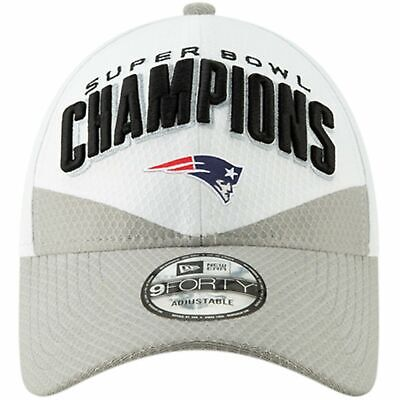 2019 New England Patriots New Era 9FORTY Super Bowl 53 Champions Locker Hat Cap