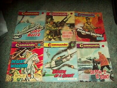 6 OLD COMMANDO WAR STORIES IN PICTURES, NOs 243,252, 254, 285, 262 & 278