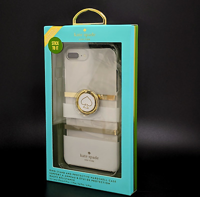 Kate Spade New York Case Ring Stand For iPhone 6 Plus 7 Plus 8 Plus Gold White