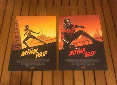 Ant Man And The Wasp Odeon Exclusive Both Posters (New) A4 Size Marvel Avengers
