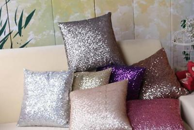 Nice Reversible Glitter Sequins Cushion Cover Sofa Throw Pillow Case Ornament CB