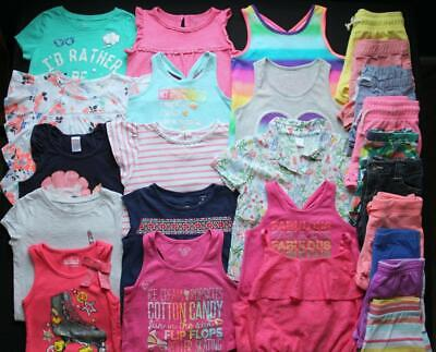 Girl Size 7/8 8 Spring Summer Shirts Shorts Tanks Romper Outfits Clothes Lot!!
