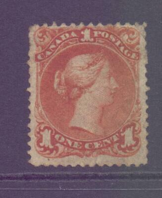CANADA SG47 1c Red Brown Large Head Queen with Lack of Cancel - Unused?