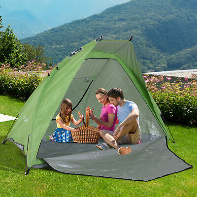 Outsunny 7.5' Pop Up Compact Foldable Sun Shade Beach Tent Privacy Cabana
