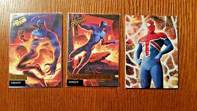 (3) 2017 Fleer Ultra Spiderman Cards Venom Symbiote Spiderman Spider-UK L2 L1 77
