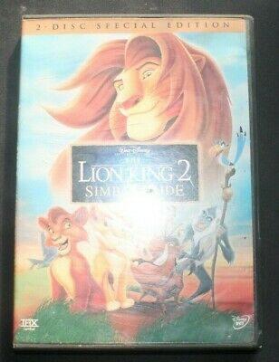 THE LION KING 2 SIMBA'S PRIDE Walt Disney-2 Disc Special Edition DVD