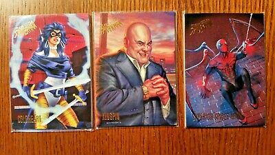 (3) 2017 Fleer Ultra Spiderman Cards Coldheart Kingpin Superior-Spidey 61 66 67